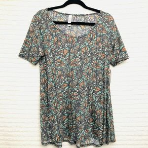 LulaRoe Perfect T Stained Glass Print Top